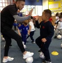 FootieBugs classes within schools - National School Sport Week
