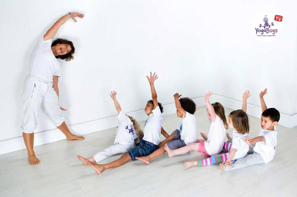 children doing a yogabugs class
