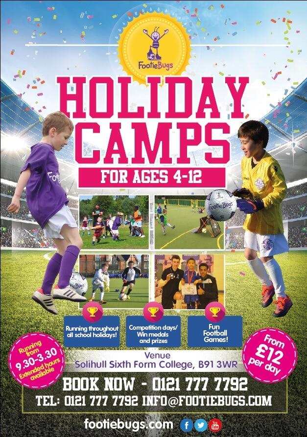 FootieBugs Kids Football Summer Holiday Camp in Solihull