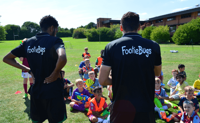 FootieBugs Football Holiday Camp for Kids in Solihull - Water Fight