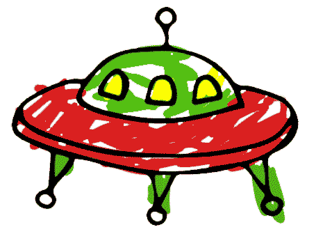 a flying saucer spaceship