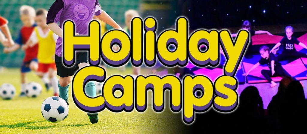 Holiday camps blog header image of sports and dance