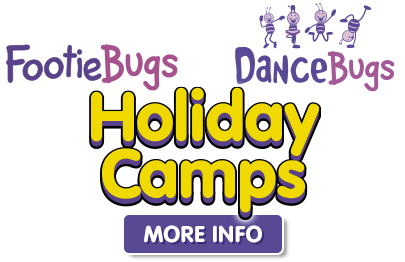 FootieBugs & DanceBugs Holiday Camps - more info button