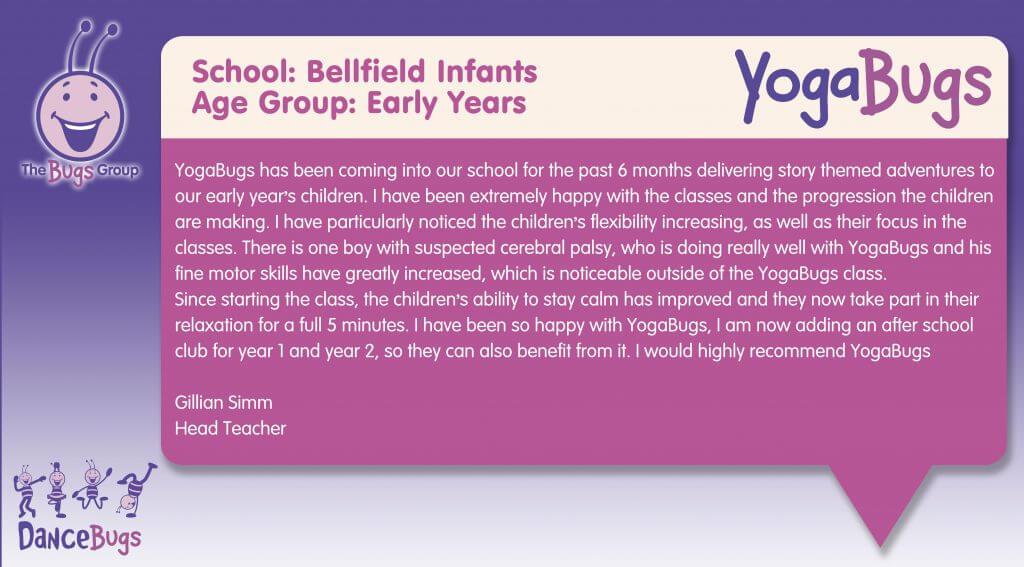 a testimonial from Bellfield infants school