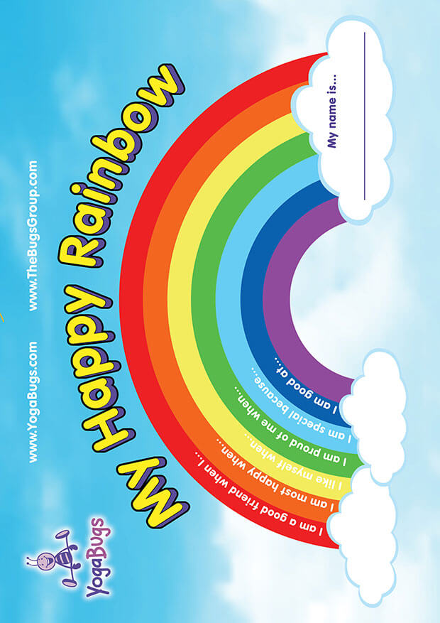 happy rainbow exercise image