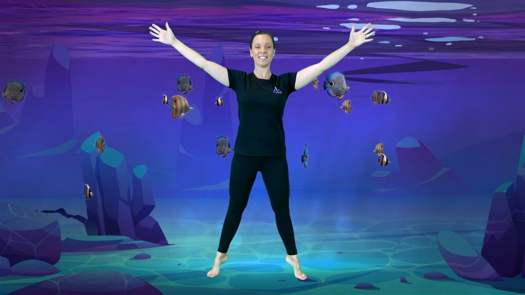 a screen shot from the undersea adventure video